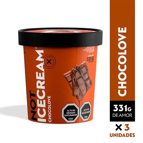 NOTICECREAM 331 gr - Chocolove (Chocolate Avellana) - 3 unidades
