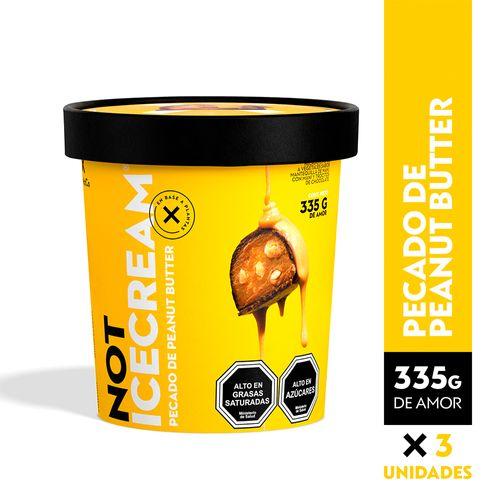 NOTICECREAM 335 gr - Pecado de Peanut Butter (Peanut Butter) - 3 unidades